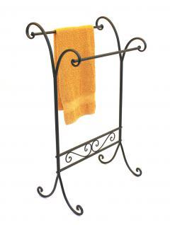 Handtuchhalter 092568 Handtuchständer 90cm Landhaus Schwarz Standhandtuchhalter - Vorschau 5
