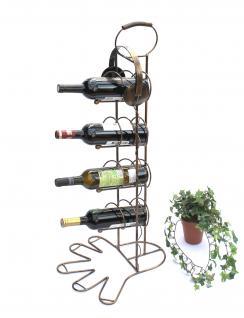 Weinregal 10-0045 Flaschenregal Flaschenhalter aus Metall 93cm Weinständer Regal - Vorschau 5