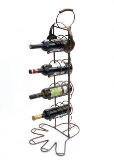 Weinregal 10-0045 Flaschenregal Flaschenhalter aus Metall 93cm Weinständer Regal - Vorschau 2
