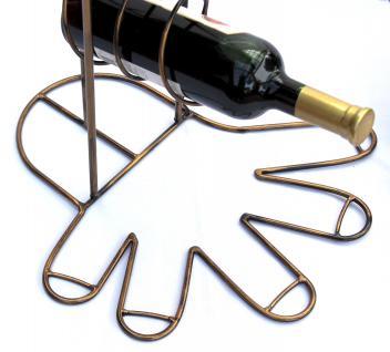 Weinregal 10-0045 Flaschenregal Flaschenhalter aus Metall 93cm Weinständer Regal - Vorschau 4