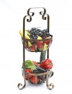 Etagere Obstkorb 10-320 Gemüsekorb 62cm Küchenregal mit 2 Körbe Obstschale Korb - Vorschau 5