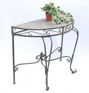 Wandtisch 94036 Beistelltisch Metall 90cm Halbrund Konsolentisch Konsole Tisch - Vorschau 2
