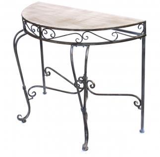 Wandtisch 94036 Beistelltisch Metall 90cm Halbrund Konsolentisch Konsole Tisch - Vorschau 5