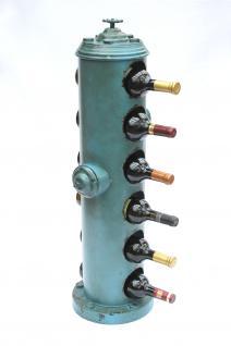 Weinregal Hydrant 19474 aus Metall 85cm Flaschenständer Flaschenhalter Vintage