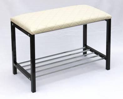 schuhregal mit sitzbank bank 70cm schuhschrank aus. Black Bedroom Furniture Sets. Home Design Ideas