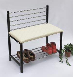 schuhregal mit sitzbank bank 70cm schuhschrank aus metall schuhablage kaufen bei. Black Bedroom Furniture Sets. Home Design Ideas