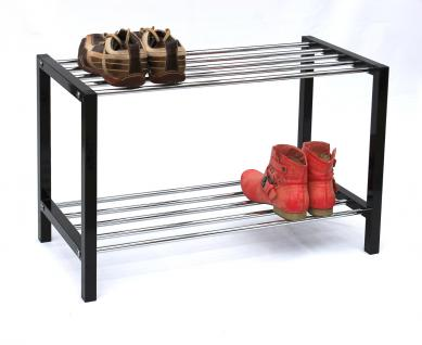 schuhregal schuhbank 70cm schuhschrank aus metall. Black Bedroom Furniture Sets. Home Design Ideas