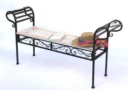 gartenbank 19279 bank 133cm aus metall und holz sitzbank parkbank schmiedeeisen kaufen bei. Black Bedroom Furniture Sets. Home Design Ideas
