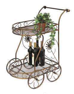 servierwagen aus metall 10 0759 beistelltisch 70cm. Black Bedroom Furniture Sets. Home Design Ideas