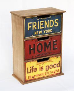 Kommode Minikommode mit 3 Schubladen 19795 MDF Regal 32cm Schrank Shabby Truhe - Vorschau 1
