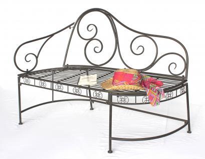 bank dy140486 aus metall gartenbank sitzbank 2 sitzer 120cm rundbank. Black Bedroom Furniture Sets. Home Design Ideas
