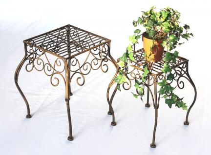 Blumenhocker 2er Set Blumenständer 140102 Pflanzenständer Hocker Beistelltisch - Vorschau 3