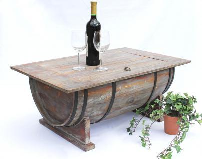 Couchtisch Weinfass 5084 Tisch aus Holz Weinregal 80cm Beistelltisch Bar Weinbar