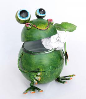 Tischeimer Frosch BL-79 aus Metall 20cm Mülleimer Tischmülleimer Eimer Abfallbehälter - Vorschau 3