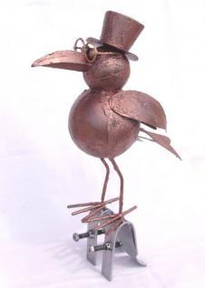 rabe vogel aus metall dachschmuck f r die dachrinne 30cm. Black Bedroom Furniture Sets. Home Design Ideas