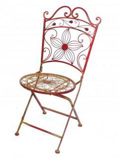 """Tisch mit 2 Stühle 18080-81 Set """"Cuori"""" aus Metall Rot Gartenstuhl Gartentisch - Vorschau 3"""