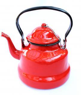 Teekessel 86/18 Wasserkocher Teekocher BsB 2 L. emailliert Wasserkessel Emaille Nostalgie