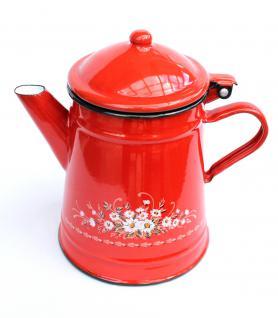 Kaffeekanne BsB emailliert Teekanne Wasserkanne Kanne Emaille Nostalgie