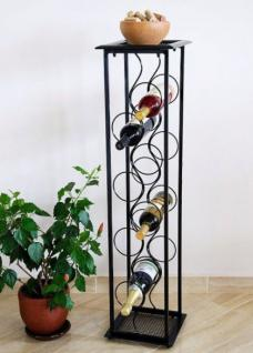 """Weinregal Blumensäule """"Oktave"""" 100cm Flaschenständer Metall Regal Flaschenhalter"""