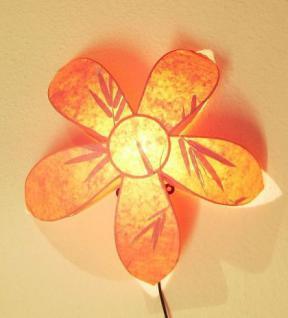 wandlampe lampe wandleuchte blume stern 45cm rot. Black Bedroom Furniture Sets. Home Design Ideas
