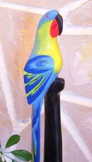Papagei aus Holz Vogel Handbemalt Blau 80cm - Vorschau 1
