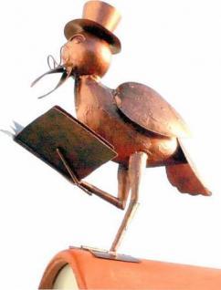Rabe aus Metall 8982 Dachschmuck für den Dachfirst Dach 50cm Storch Vogel