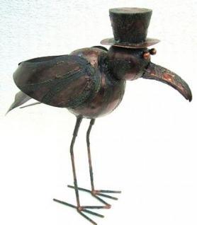 Möwe Vogel aus Metall Garten und Balkon Deko 45 cm - Vorschau 3