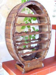 Weinregal Weinfass für 24 Flaschen Braun gebeizt Bar Flaschenständer - Vorschau 1