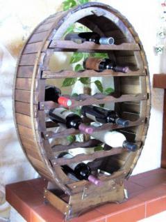 Weinregal Weinfass für 24 Flaschen Braun gebeizt Bar Flaschenständer - Vorschau 3