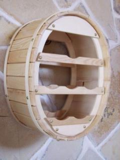 weinregal weinfass wandregal zum aufh ngen f r 6 flaschen nat kaufen bei dandibo ambiente. Black Bedroom Furniture Sets. Home Design Ideas
