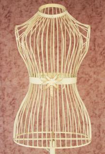 Schneiderpuppe Antik Creme-Weiß 150cm 92007 aus Metall Schaufensterpuppe Puppe
