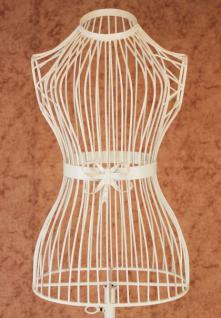 Schneiderpuppe Weiß 150cm 92102 aus Metall Schaufensterpuppe Schneiderbüste
