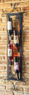 Weinregal Vino 130cm Senkrecht aus Metall Flaschenständer Wandregal Bar Flaschenhalter