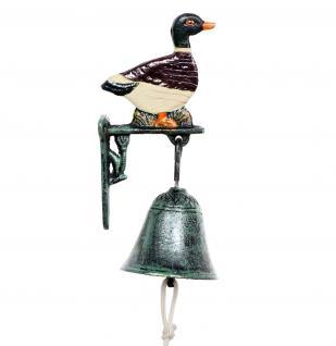 Türglocke Wildente 21106 Glocke aus Metall Gusseisen mit Ente Türklingel