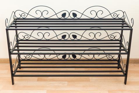 schuhregal mi 3 regal 92cm schuhschrank 21235 schuhablage metall schmiedeeisen kaufen bei. Black Bedroom Furniture Sets. Home Design Ideas