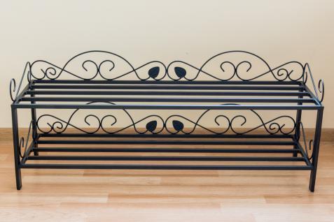 schuhregal mi 2 regal 92cm schuhschrank 21236 schuhablage metall schmiedeeisen kaufen bei. Black Bedroom Furniture Sets. Home Design Ideas