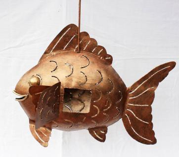 Windlicht Teelicht Fisch Metall Kerzenhalter 45cm - Vorschau 2