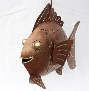 Windlicht Teelicht Fisch Metall Kerzenhalter 45cm - Vorschau 3