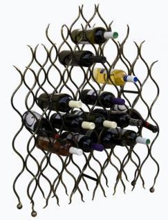 """Weinregal """"Grand Feu"""" Metall Schmiedeeisen für 40 Flaschen Flaschenhalter 95cm - Vorschau 1"""