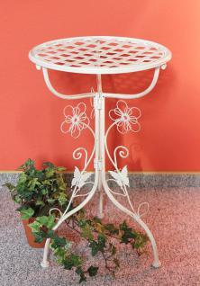 Blumenhocker Romance 52cm Blumenständer 94507 Pflanzenständer Beistelltisch Weiß