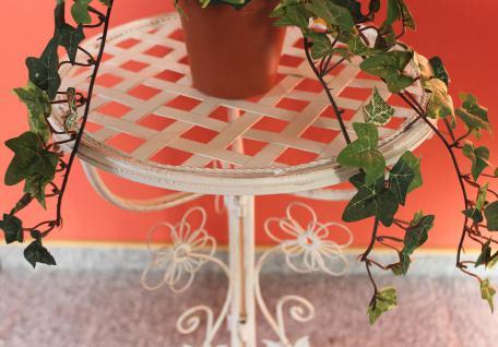 Blumentreppe 130837 Aus Metall Mit Kreidetafel 108cm Blumenständer ... Blumentreppe Holz Metall Pflanzentreppe