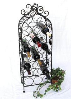 Weinregal JD130665 aus Metall 100cm Flaschenregal Flaschenhalter Flaschenständer