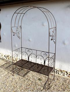 rosenbogen mit bank 130472 metall 236cm gartenbank spalier pergola kletterhilfe kaufen bei. Black Bedroom Furniture Sets. Home Design Ideas