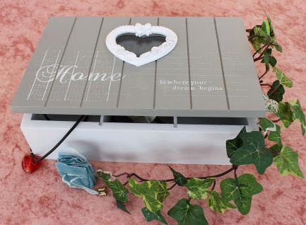 Schmuckkasten Home 14808 Setzkasten 23cm Sammlervitrine Sortierkasten mit Herz - Vorschau 3