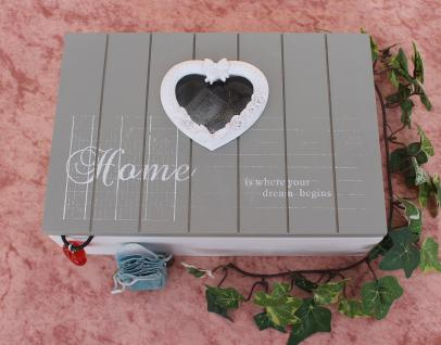 Schmuckkasten Home 14808 Setzkasten 23cm Sammlervitrine Sortierkasten mit Herz - Vorschau 5