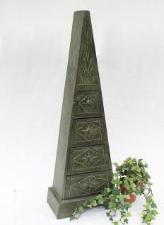 Pyramide Kommode 100cm Grün mit 4 Schubladen Loft Cargo Schrank Shabby Truhe - Vorschau 1
