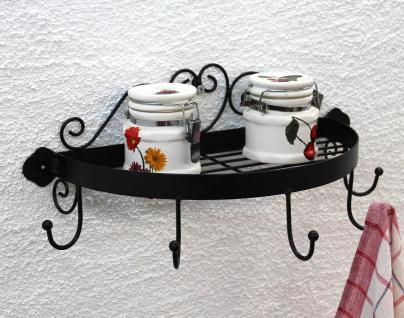 Wandregal 95243 Wandkonsole 39cm Küchenregal aus Metall Badregal Kräuterregal - Vorschau 4