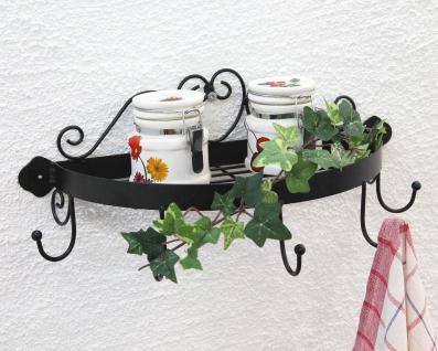 Wandregal 95243 Wandkonsole 39cm Küchenregal aus Metall Badregal Kräuterregal - Vorschau 5