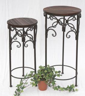 Blumenhocker 2er Set HX12590 Blumenständer 58, 68cm Rund Blumensäule Tisch