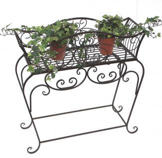 Blumenständer 68cm Blumenbank 12554 S Metall Blumenregal Beistelltisch Tisch - Vorschau 1
